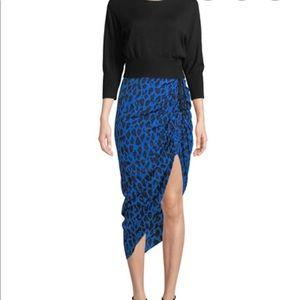 Brand new 💯 Silk  Ruched Leopard-Print
